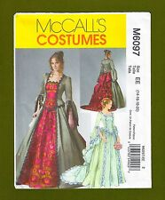 Victorian/Elizabethan Ball Gown Costume Sewing Pattern (Size 14-20) McCalls 6097