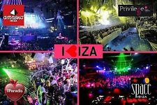 SOUVENIR FRIDGE MAGNET of IBIZA SPAIN & AMNESIA & PRIVILEGE & SPACE & PARADIS