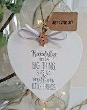 Friend Gift Plaque Sign Friendship isn't Big Thing Million Little things BFF