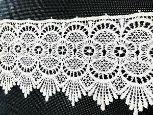 White Lace For Saree Kurti Guipure Heavy Designer Floral Flower Curtains Home