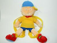 "Caillou Doll Backpack plush 13"" stuffed Adjustable Straps Cinar 2000"