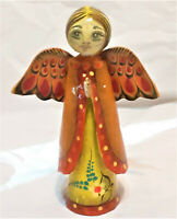 Mid Century MEXICO Paper Mache ANGEL Signed by SERMEL, Handcrafted RARE Folk Art