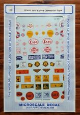 Microscale HO Decals 1930s and 1940s Business Commercial Signs 87-421 Shell Esso