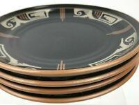 "Noritake Stoneware DESERT FIRE Salad Plates 8.25"" Southwestern Native Design 4"