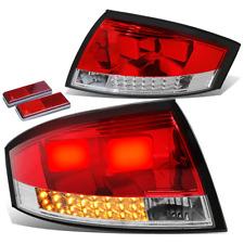 FOR 00-06 AUDI TT TYN 8N MK1 PQ34 RED LENS CHROME HOUSING LED BRAKE TAIL LIGHTS
