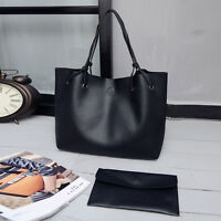 Women PU Leather Tote Shoulder Messenger Bag Purse Shopper Handbag Satchel Bag
