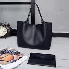 Women PU Leather Tote Shoulder Messenger Bag Purse Shopper Handbag Satchel Bag