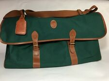 Vintage Polo Ralph Lauren Green Duffel Weekender Travel Gym Canvas Bag 22x12x9""