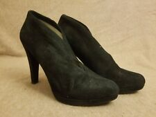 Michael Kors Women's Ankle Boots Suede Booties High Heels Black Shoes Size 9.5 M