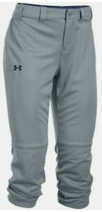 UNDER ARMOUR Steel Gray/Midnight STRIKE ZONE SOFTBALL PANTS WOMENS L LARGE *NEW*