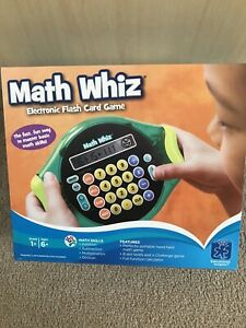 Learning Resources Math Whiz Electronic Flash Card Game