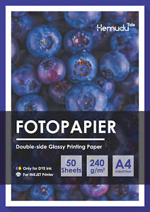 A4 240g Glossy Inkjet Printer Photo Paper Brochure Epson HP Canon Double Sided