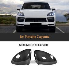 For Porsche Cayenne 2018 Carbon Fiber Door Side Wing Mirror Covers Caps 1 Pair