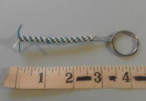 Key Holder Ring Fob Blue and White 256708