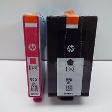 NEW GENUINE HP 920XL BLACK + 920XL MAGENTA INK CARTRIDGE (LOOK DESCRIPTION)S1000