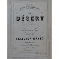 DAVID Felicien Le Désert Opéra Chant Piano ca1880 partition sheet music score