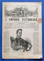 Storia - L'Emporio Pittoresco - Giornale settimanale - Anno I N° 2 - 1864