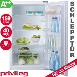 Einbau Kühlschrank 102cm Nische A++ Vollraum integrierbar Schlepptür LED Licht