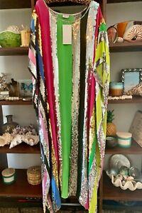 Bonita Collective Sequin Stephanie Kaftan - Silk - One Size - Long  (RRP $895)