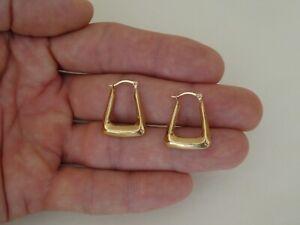 Vintage 9CT Gold Hoop Earrings