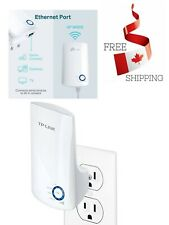 WiFi Range Extender  Wireless Signal Booster Easy Set Up Wall Plug Design