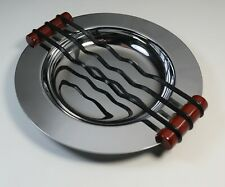 Vintage Ashtray Art Deco Modernism Bakelite Streamlined Design Negbaur 1930 Mint