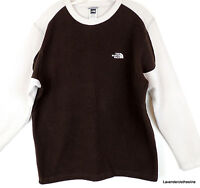 The North Face Mens L Brown & Beige Fleece Knit Pull Over Logo Sweater
