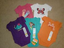 Body Suits~Size 3 Mo~SR $76~by Jumping Beans & BabyStarters~5 Colors-1 Pair Socs