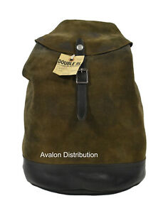 Ralph Lauren RRL Green Tumbled Leather Suede Rucksack Backpack New $995