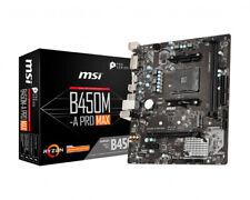 MSI B450M-A Pro Max AMD B450 AM4 Micro ATX DDR4-SDRAM Motherboard