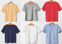 GAP Boy Tee Crew V-neck Short sleeve Cotton Blue Red Yellow Grey White 3T 4T 5T