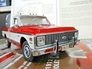 "Danbury Mint 1:24 1972 Chevrolet Cheyenne Pickup Truck ""Crimson Red"""