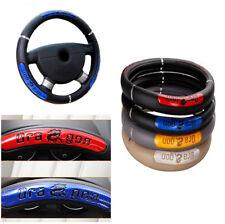38cm Durable Non-Slip  Blue Black Steering Wheel Cover Unique Reflective Design