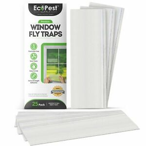 Window Fly Traps – 25 Pack | Transparent Sticky Fly Trap for Windows