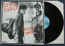 STEVE EARLE - Guitar Town (MCA) 1986  Superb Excellent Original Pressing