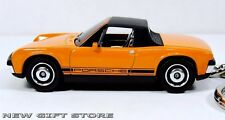 RARE HTF KEY CHAIN ORANGE BLACK VW PORSCHE 914/6 TARGA COUPE NEW LIMITED EDITION
