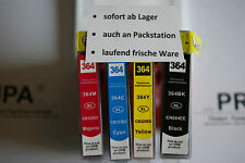 4er set pour HP 364 xl/puce/compléments photosmart c309 c311 b210 b109a b010a b210a
