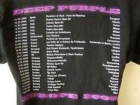*NEW* DEEP PURPLE OFFICIAL JULY 2008 TOUR T SHIRT VENUES BACK PRINT S M L XL XXL