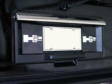 Hummer H2 License Plate Panel **Enhancers** (Mirror & Black)  **2003-2009**