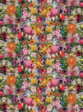 Ella Doran Retro Flowers Flat Wrap