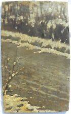 Francesco FILIPPINI (Brescia 1853-Milano 1895) Sentiero innevato tra gli alberi
