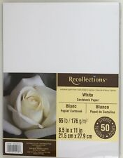 Recollections White Cardstock Paper 65 lb. 50 sheet pack 8.5 x 11 in.