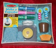 Melissa & Doug Bake & Decorate Wooden Cupcake Play Food Set