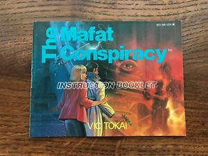 Mafat Conspiracy NES Nintendo Instruction Manual Only
