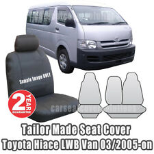 Tailor Made Seat Covers Fit TOYOTA HIACE LWB Van Outback Canvas 2005-ON Charcoal
