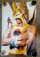 "2000 DC Direct Hawkman & The Atom Poster Alex Ross 22"" x 34"""