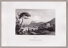 Italien, Italy - Pozzuoli, Bajä, Bajae - Original-Stahlstich von A.H. Payne 1846
