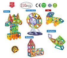 Magnet Tiles 110pc Clear Color 3D Magnetic Building Blocks Tiles Educational Toy