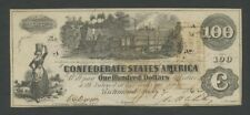 CONFEDERATE STATES - $100  1862  T39  PMG.53  ( American Currency )