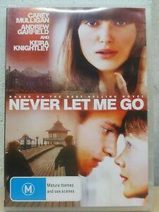 Never Let Me Go DVD 2010 Keira Knightley Movie Carey Mulligan, Andrew Garfield